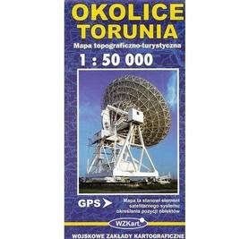 OKOLICE TORUNIA mapa topograficzno-turystyczna 1:50 000 GPS WZKART