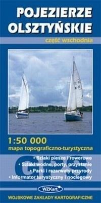 POJEZIERZE OLSZTYŃSKIE mapa topograficzno-turystyczna 1:50 000 cz.wsch. GPS WZKART