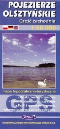 POJEZIERZE OLSZTYŃSKIE mapa topograficzno-turystyczna 1:50 000 cz.zach. GPS WZKART