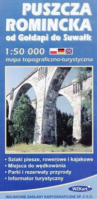 PUSZCZA ROMINCKA mapa topograficzno-turystyczna 1:50 000 GPS WZKART