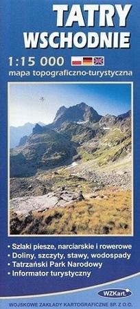 TATRY WSCHODNIE mapa topograficzno-turystyczna 1:15 000 WZKART