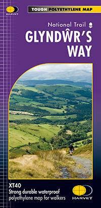 GLYNDWR'S WAY mapa wodoodporna 1:40 000 HARVEY