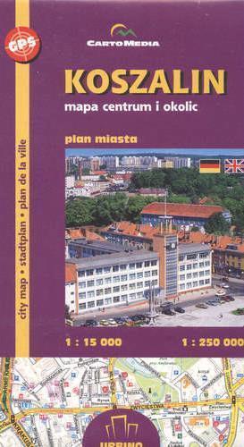 KOSZALIN plan miasta 1:15 000 CARTOMEDIA