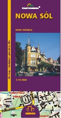 NOWA SÓL plan miasta 1:15 000 CARTOMEDIA
