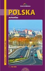 POLSKA autoatlas 1:750 000 CARTOMEDIA