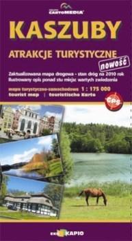 KASZUBY atrakcje turystyczne mapa 1:175 000 CARTOMEDIA