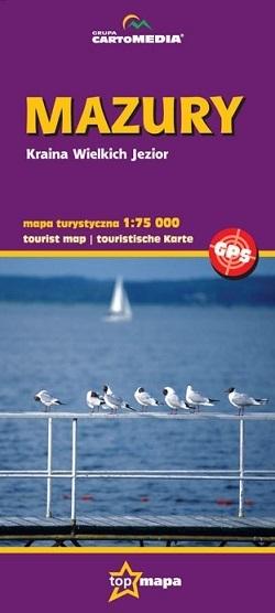 MAZURY mapa turystyczna 1:75 000 CARTOMEDIA