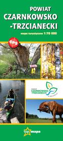 POWIAT CZARNKOWSKO-TRZCIANECKI mapa turystyczna 1:70 000 CARTOMEDIA