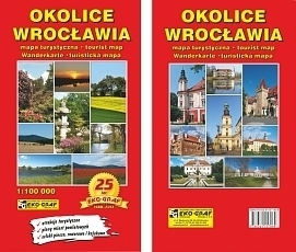 OKOLICE WROCŁAWIA mapa turystyczna 1:100 000 EKOGRAF