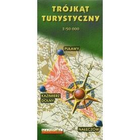 TRÓJKĄT TURYSTYCZNY Puławy - Kazimierz Dolny - Nałęczów mapa 1:50 000 CARTOMEDIA