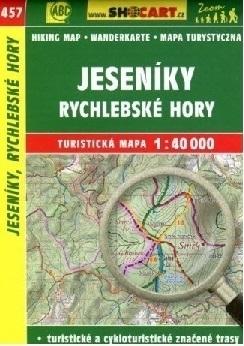 JESENIKY - GÓRY ZŁOTE mapa turystyczna 1:40 000 SHOCART