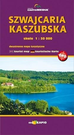 SZWAJCARIA KASZUBSKA mapa turystyczna 1:30 000 CARTOMEDIA