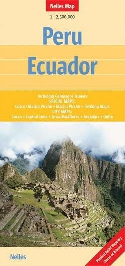 PERU EKWADOR mapa samochodowa 1:2 500 000 NELLES