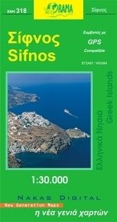 SIFNOS mapa samochodowa 1:30 000 ORAMA