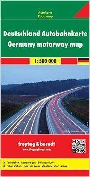 NIEMCY AUTOSTRADY mapa samochodowa 1:500 000 FREYTAG & BERNDT
