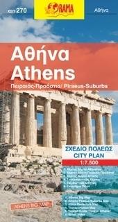 ATENY plan miasta 1:7 500 ORAMA