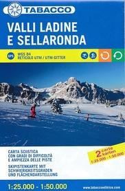 VALLI LADINE E SELLARONDA mapa narciarska 1:25 000/ 1:50 000 TABACCO
