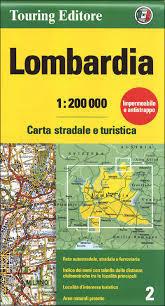 LOMBARDIA mapa samochodowa 1:200 000 TOURING EDITORE