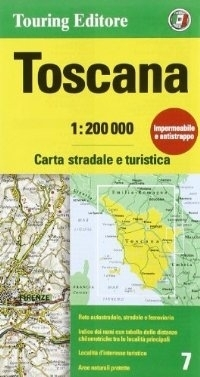 TOSKANIA mapa samochodowa 1:200 000 TOURING EDITORE