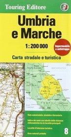 UMBRIA MARCHE mapa samochodowa 1:200 000 TOURING EDITORE