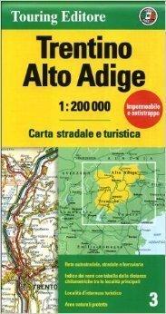 TRYDENT I GÓRNA ADYGA mapa samochodowa 1:200 000 TOURING EDITORE