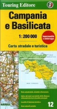 KAMPANIA BASILICATA mapa samochodowa 1:200 000 TOURING EDITORE