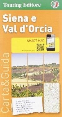 SIENA i okolice DOLINA VAL D'ORCIA (TOSKANIA) mapa turystyczna 1:175 000 TOURING EDITORE