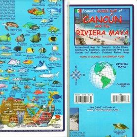 CANCUN I RIWIERA MAJÓW mapa wodoodporna FRANCO