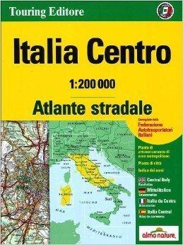 WŁOCHY ŚRODKOWE atlas samochodowy 1:200 000 TOURING EDITORE