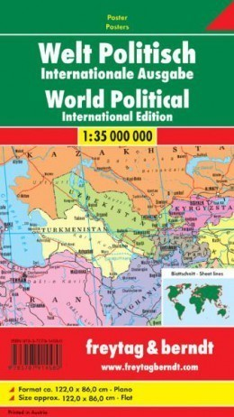 ŚWIAT POLITYCZNY mapa ścienna 1:35 000 000 FREYTAG&BERNDT