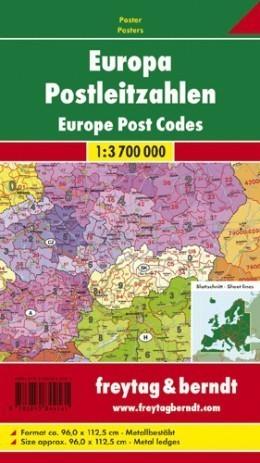 EUROPA KODY POCZTOWE mapa ścienna 1:3 700 000 FREYTAG&BERNDT