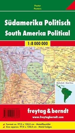 AMERYKA POŁUDNIOWA POLITYCZNA mapa ścienna 1:8 000 000 FREYTAG&BERNDT