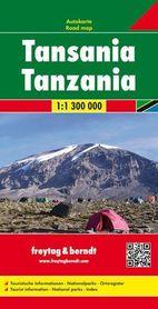 TANZANIA mapa 1:1 300 000 FREYTAG & BERNDT