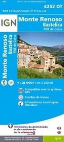 MONTE RENOSO / BASTELICA / PNR DE CORSE GPS 1:25 000 mapa turystyczna IGN 4252OT