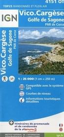 VICO / CARGÈSE / GOLFE DE SAGONE / PNR DE CORSE GPS mapa turystyczna IGN 4151OT