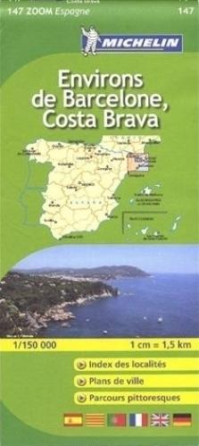 147 BARCELONA COSTA BRAVA mapa samochodowa 1:150 000 MICHELIN