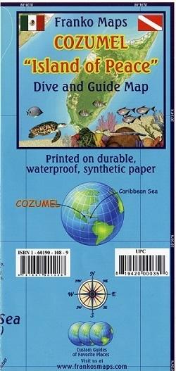COZUMEL mapa wodoodporna 1:95 000 FRANCO