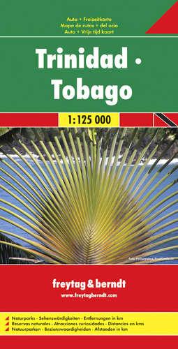 TRYNIDAD TOBAGO mapa 1:125 000 FREYTAG & BERNDT