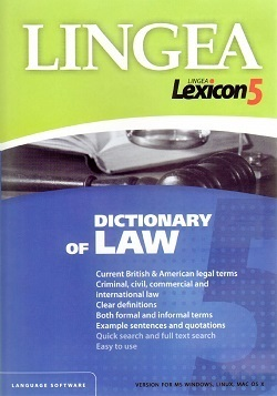 Lexicon 5 Dictionary of Law słownik LINGEA