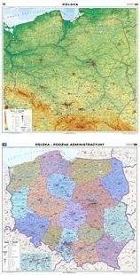 POLSKA mapa ścienna ogólnogeograficzna podział administracyjny 1:750 000 NOWA ERA