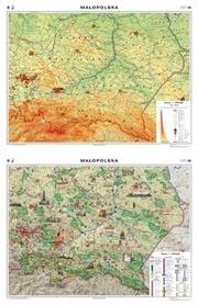 MAŁOPOLSKA mapa regionalna ogólnogeograficzna/krajobrazowa NOWA ERA
