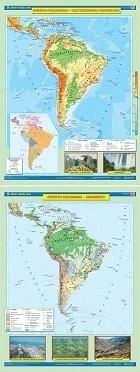 AMERYKA POŁUDNIOWA mapa ścienna ukształtowanie powierzchni/krajobrazy NOWA ERA