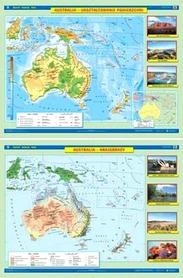 AUSTRALIA I OCEANIA mapa ścienna ukształtowanie powierzchni/krajobrazy NOWA ERA