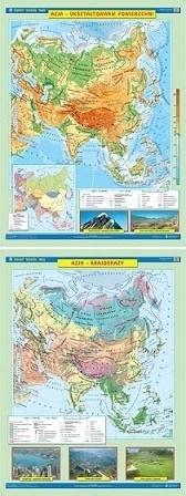 AZJA mapa ścienna ukształtowanie powierzchni/krajobrazy NOWA ERA