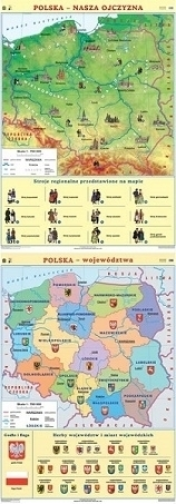 POLSKA mapa ścienna nasza ojczyzna/województwa NOWA ERA