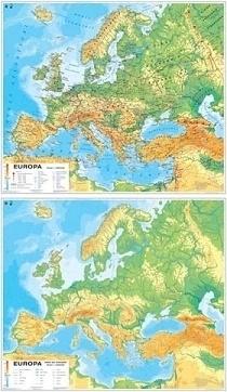 EUROPA mapa ścienna ogólnogeograficzna mapa do ćwiczeń NOWA ERA