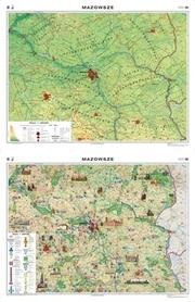 MAZOWSZE mapa ścienna regionalna fizyczna/krajobrazowa NOWA ERA