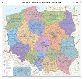 POLSKA mapa ścienna podział administracyjny NOWA ERA