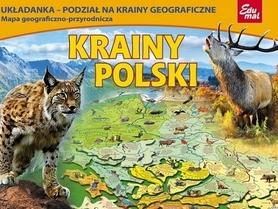 KRAINY POLSKI puzzle układanka EDUMAL