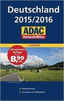 NIEMCY atlas 1:300 000 ADAC 2015/2016